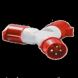Адаптер двухлучевой TS1012-214 3Р+РЕ 16А 380В IP44  IEK