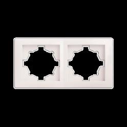 Рамка DELUX WEGA 9302 двойная белая