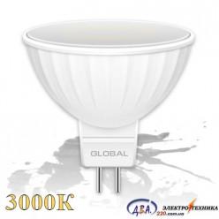 LED лампа GLOBAL MR16 3W мягкий свет 220V GU5.3 (1-GBL-111)