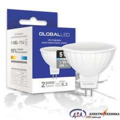 LED лампа GLOBAL MR16 5W яркий свет 220V GU5.3 (1-GBL-114)
