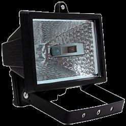 Прожектор ИО 500 галогенный чорный IP 54 IEK