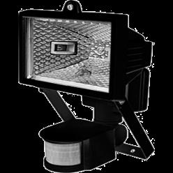 Прожектор ИО 150 Д (детектор) галогенный чорный IP 54  IEK