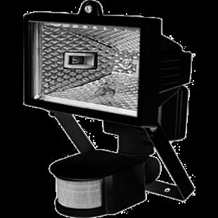 Прожектор ИО 500 Д (детектор) галогенный чорный IP 54  IEK