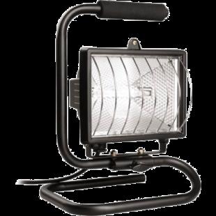 Прожектор ИО 500 П (переноска) галогенный черный IP 54  IEK