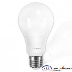 LED лампа GLOBAL A60 12W мягкий свет 220V E27 AL (1-GBL-165) 3000К