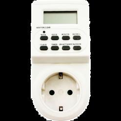 Розетка с таймером TM22 (недельная) 3500W/16A розетка с таймером IP20 Feron