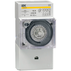 Таймер аналоговый ТЭМ181, мин.интервал 30мин 16А 230В на DIN IEK