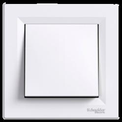 Выключатель  Asfora  C⁄М 1кл., белый, EPH0100121, Schneider Electric
