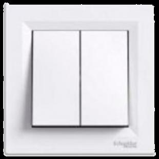 Выключатель  Asfora  C⁄М 2кл., белый, EPH0300121, Schneider Electric